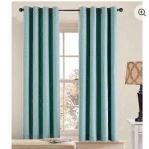 Pair of Better Homes Teal curtains